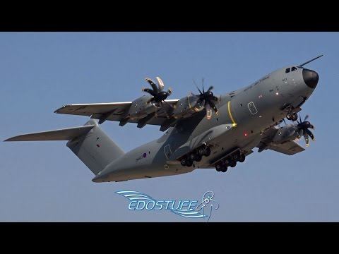 Royal Air Force - Airbus A400M Atlas ZM403 - Startup and Short Takeoff from Split Airport LDSP/SPU