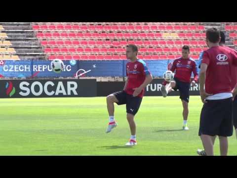 David Lafata před zápasem s Chorvatskem