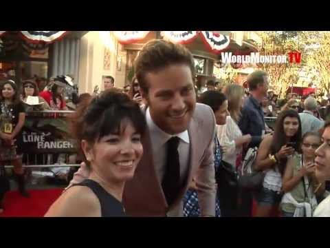 Armie Hammer showing mad love for his fans at 'The Lone Ranger' World premiere