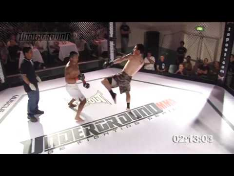 KICKBOXING BATTLE - Okada Vs Morris (Part 1 Of 2) Underground MMA Cage Fighting Series Australia