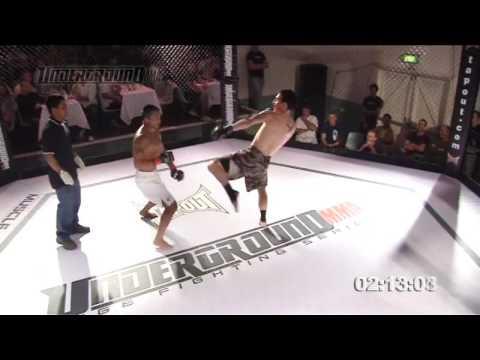 KICKBOXING BATTLE - Okada Vs Morris (Part 1 Of 2) Underground MMA Cage Fighting Series Australia