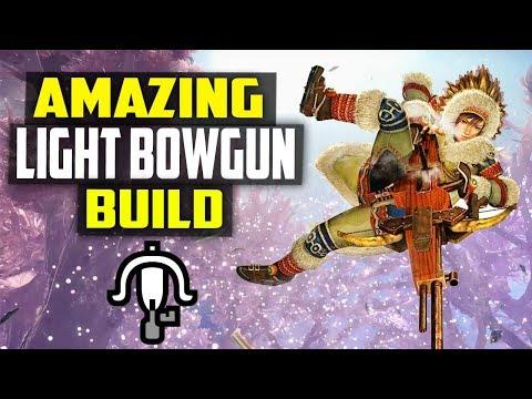 ✔️ BEST LIGHT BOWGUN BUILD! KARMA + NORMAL SHOT Monster Hunter World