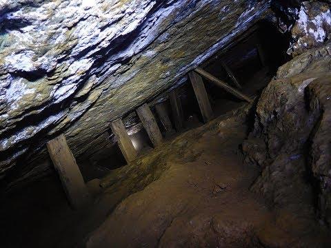 Exploring a Cornish copper mine stope