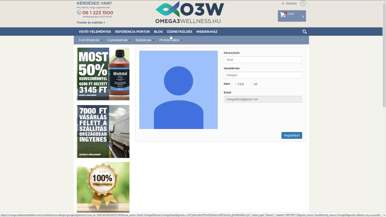 token weboldal regisztráció új bevételek a hálózatban