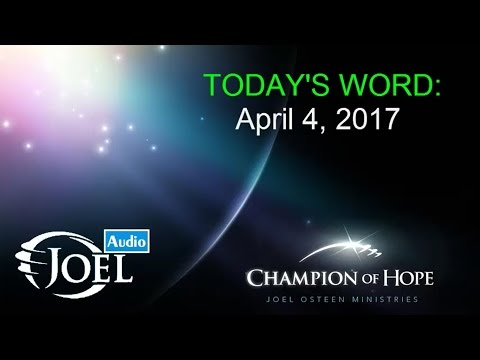Joel Osteen | Apr 4, 2017. Living With Enthusiasm. Today's WORD