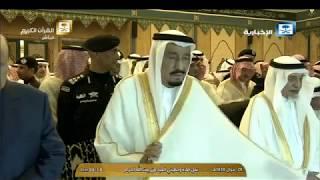 بالصور والفيديو: خادم الحرمين الشريفين والرئيس اليمني يؤديان صلاة العيد في المسجد الحرام