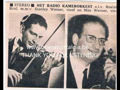DONIZETTI concertato for violin, violincello and orchestra : Stanley Weiner violin