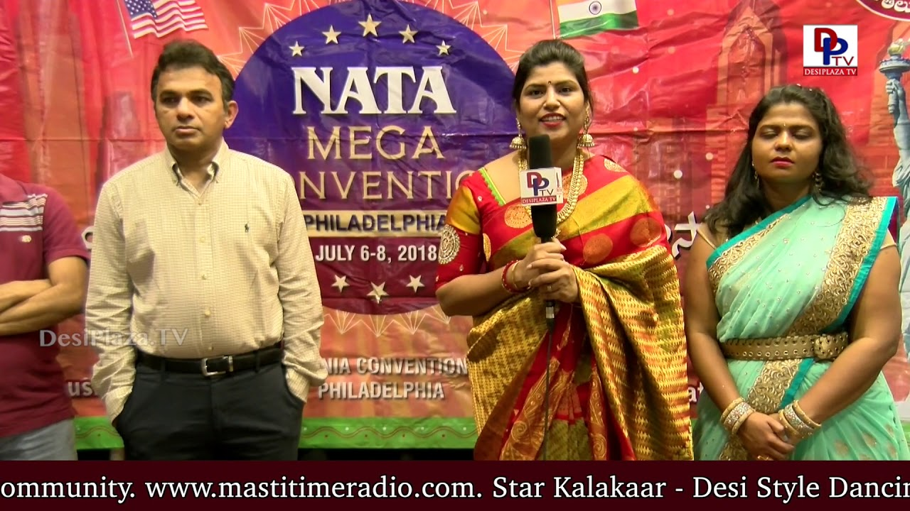 Prasanthi Ballada - Austin RVP NATA - Thanking Desiplaza TV at International Womens Day - NATA Austin
