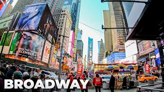 ⁴ᴷ⁶⁰ Walking NYC (Narrated) : Broadway from Times Square to Union Square (December 29, 2018)