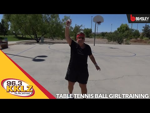 Table Tennis Ball Girl Training with 96.3 KKLZ