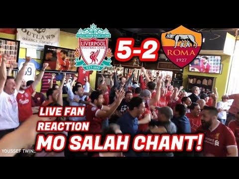 American fans love mo salah - live reaction liverpool 5-2 roma