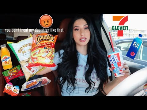Why my daughter won't be attending preschool anymore! 7-Eleven snacks Mukbang