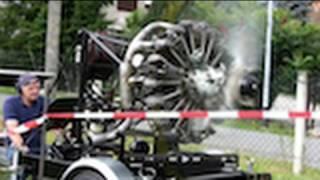 russischer sternmotor luft 9 cylinder radial engine runs