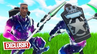 GAMEPLAY WITH THE SKIN GALAXY CUSTOM ON FORTNITE! (Fortnite Custom Skin)