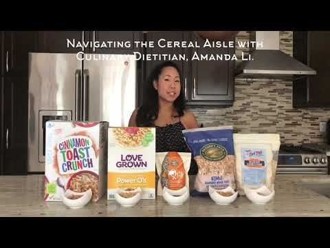 Navigating the Breakfast Cereal Aisle with Registered Dietitian & Chef, Amanda Li.