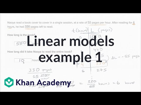 Linear Models Example 1 | Algebra I | Khan Academy