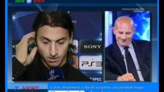 Calcio, Ibrahimovic a Sacchi sei geloso, stai parlando troppo