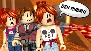 Roblox - DEU EXPEDIÇÃO ERRADO (Escape le volcan Joel)