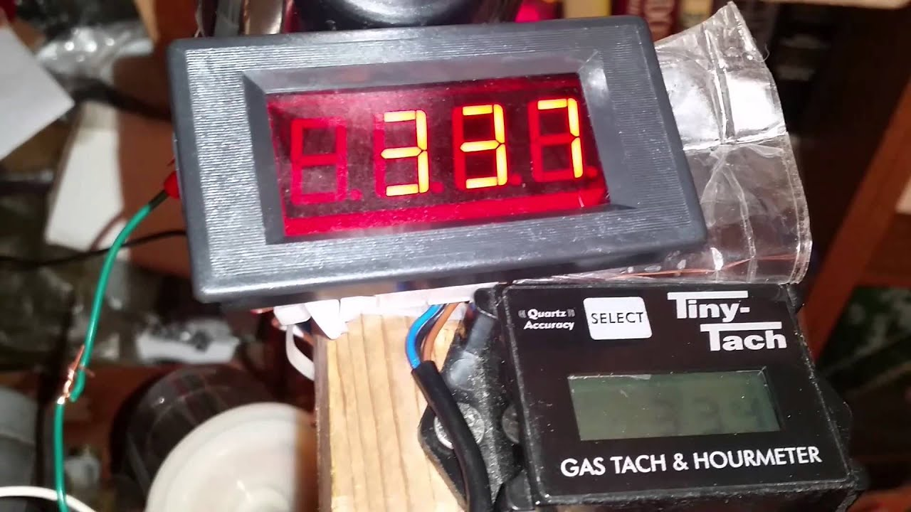4 Digit Led Tachometer  Ebay   U0026 Tiny Tach - Low Rpm Test