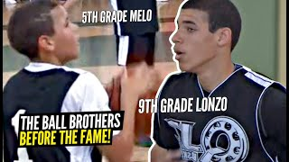 9th Grade Lonzo, 8th Grade Gelo, 5th Grade LaMelo!! The Ball Brothers Before The Fame!!