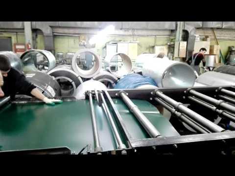 Изготовление профнастила на заводе