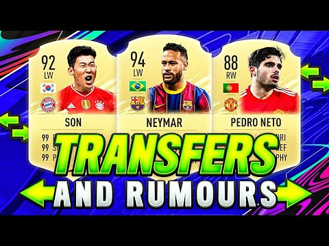 FIFA 22 | NEW CONFIRMED TRANSFERS U0026 RUMOURS SUMMER 2021😱🔥| W/ H.M.SON, PEDRO NETO U0026 💰75M NEYMAR JR!