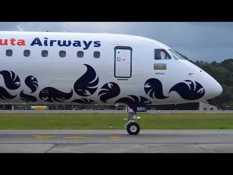Embraer 190 VP-BRU da Buta Airways taxiando durante o 3º Spotter Day Recife