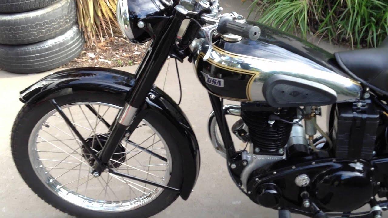 1951 BSA 250 C11 - YouTube