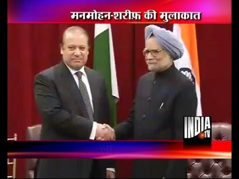Live pictures of PM Manmohan Singh-Nawaz Sharif meet in New York