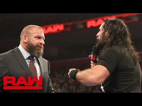 Triple H questions Seth Rollins\' drive: Raw, Dec. 31, 2018