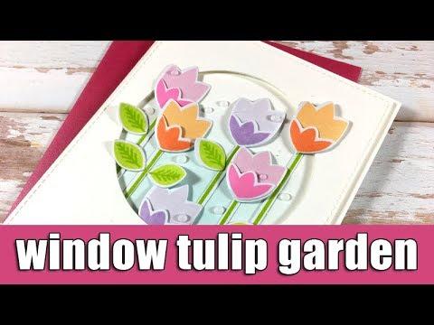 Tulip garden window card | Altenew blog hop & Giveaway