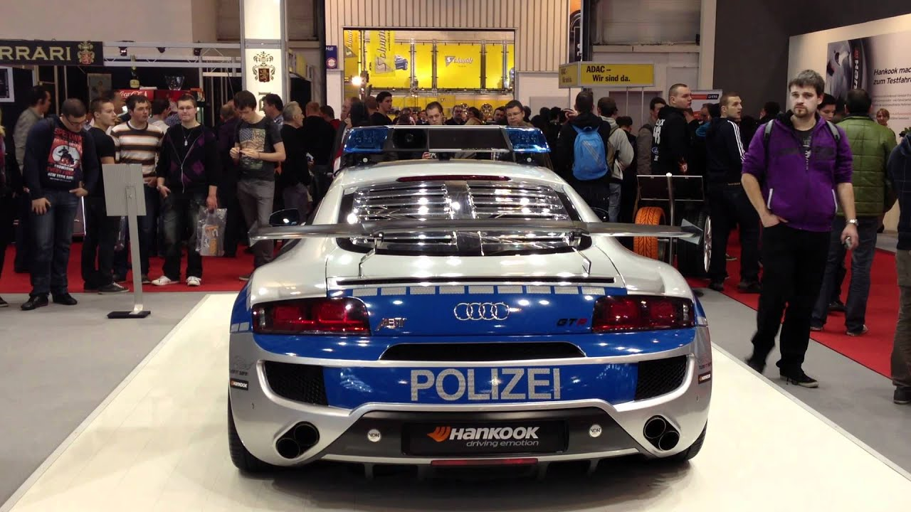 essen motorshow 2011 audi r8 polizei peterwagen german police car youtube. Black Bedroom Furniture Sets. Home Design Ideas