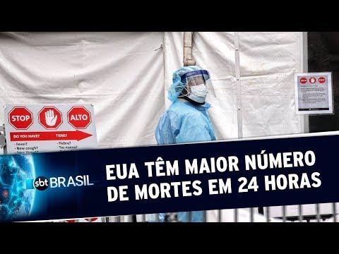 EUA Registram 1.169 Mortes Pelo Novo Coronavírus Em Apenas 24 Horas | SBT Brasil (03/04/20)