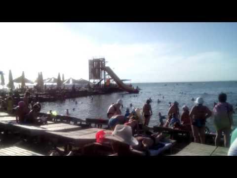 Пляж санатория высокий берег Анапа