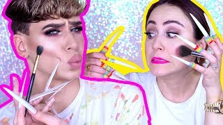 LONG FAKE NAILS Makeup Challenge 💅 mit Marvyn Macnificent | MENTAL BREAKDOWN | Hatice Schmidt