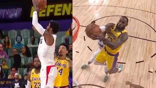 LeBron James gets his own rebound to give the Lakers the win | LAKERS vs CLIPPERS