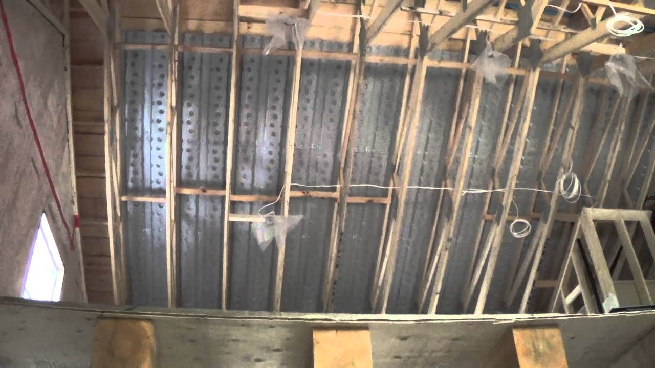 vapor barrier and ceiling - YouTube