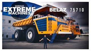 The world's biggest dump truck Belaz 75710   Vanagas Extreme Machines   with EN subtitles