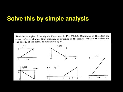 how to calculate energy of a signal|signal processing and linear systems b.p.lathi solutions videos