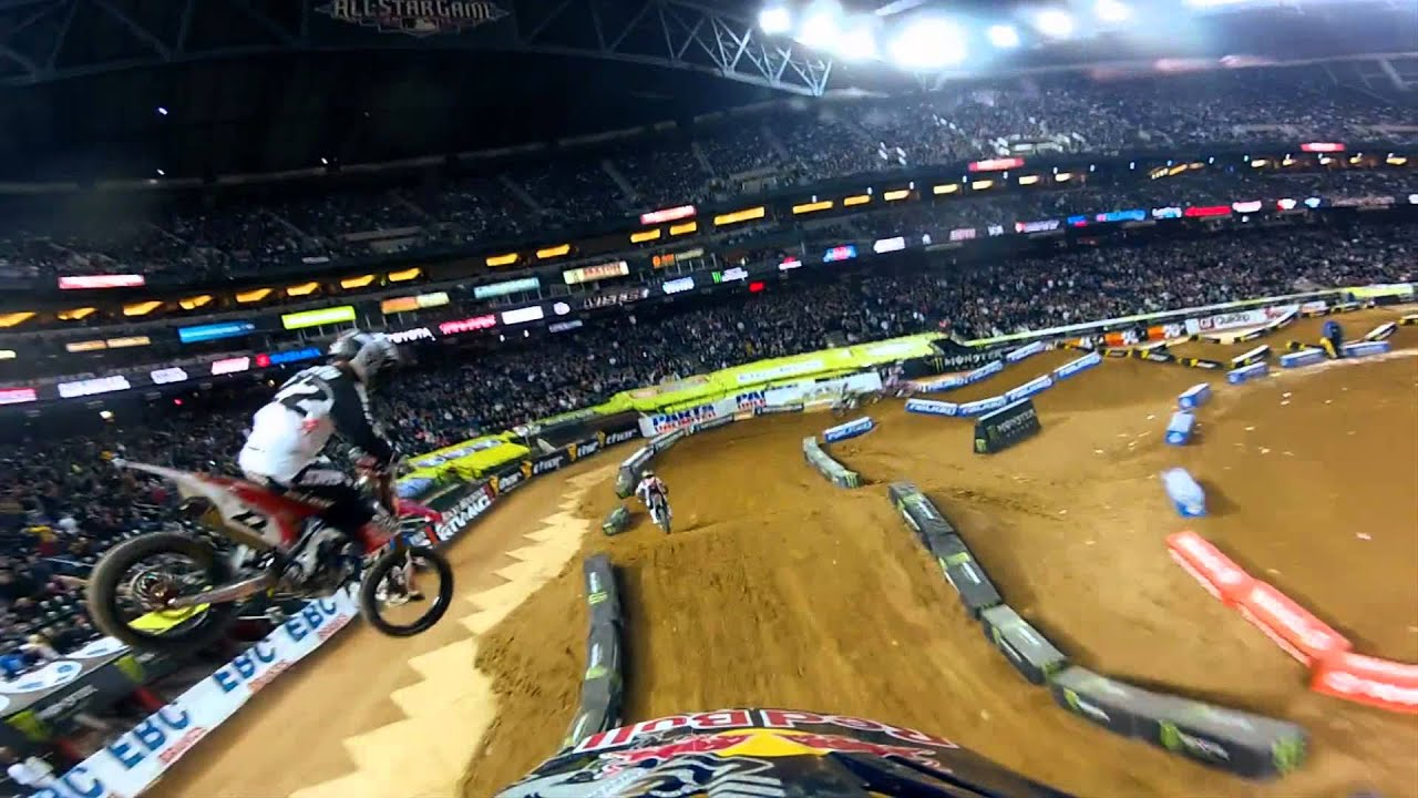 James Stewart Main Event Monster Energy Supercross 2012 - GoPro HD