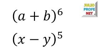 Desarrollo de binomios con exponentes 5 y 6
