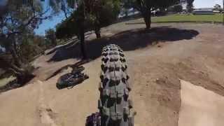 unedited flying piggy,  veiw  of the 26x2.5 kenda nevegal in action