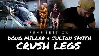 Doug Miller and Julian Smith Crush Legs and Almost Puke!