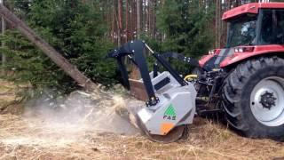 FAE UMM/S/HP - mulczer z narzędziami sztywnymi, CASE 270 KM - oczyszczanie zrębu, frezowanie pni