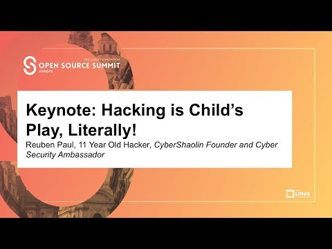 Keynote: Hacking is Child's Play, Literally! - Reuben Paul, 11 Year Old Hacker, CyberShaolin Founder