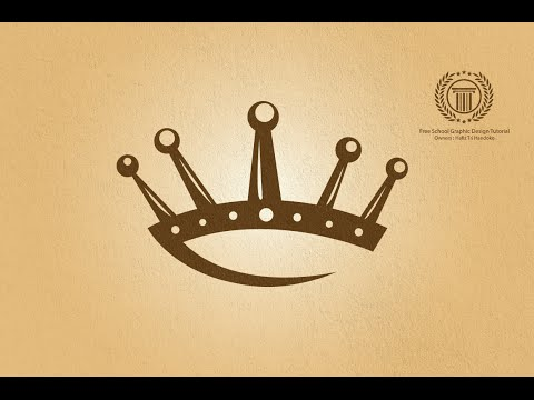 Gold King Crown Logo Design Tutorial - Adobe illustrator logo design tutorial