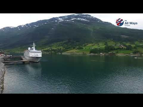 ALL WAYS CRUISES MS Berlin drone fjord