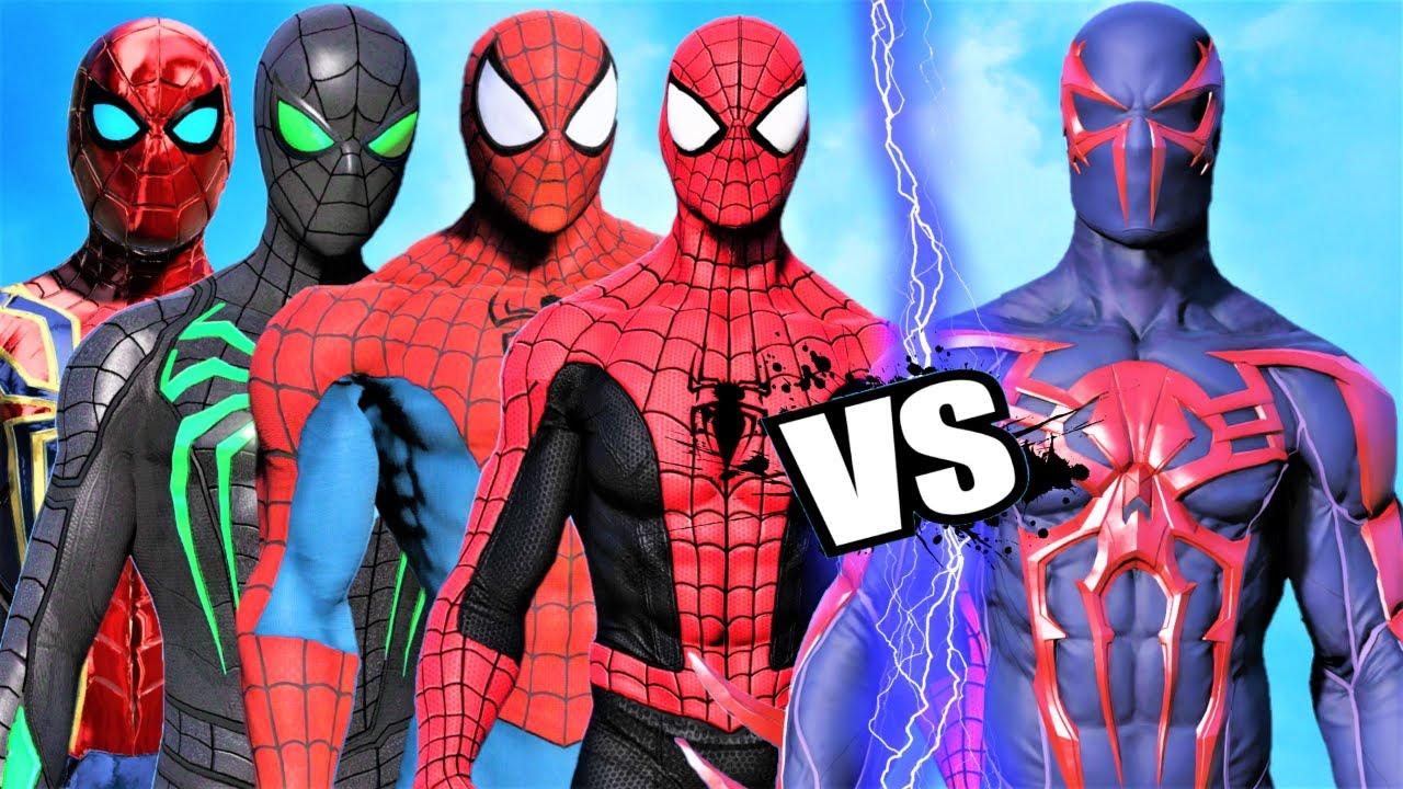 TEAM SPIDER-MAN  vs SPIDER-MAN 2099