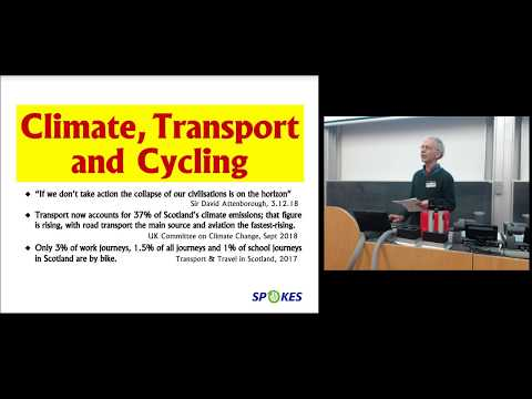 Spokes Public Meeting Climate, Transport and Cycling 20/03/2019