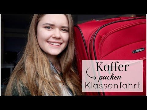 KOFFER PACKEN Für Die KLASSENFAHRT!